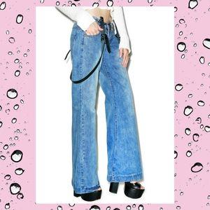 One Teaspoon Ford Westenders Wide Leg Jeans Sz 26
